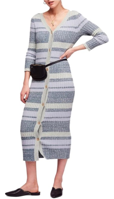 Item - Multicolor Cozy Up Cardigan Maxi Mid-length Work/Office Dress Size 0 (XS)
