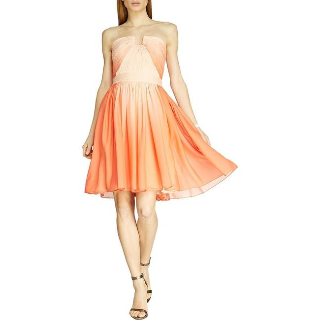 Item - Orange Ombre Heritage Chiffon Strapless Short Cocktail Dress Size 8 (M)
