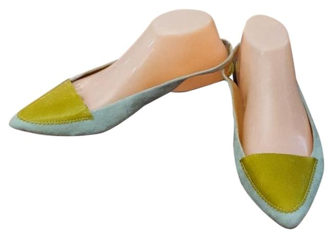 Item - Green & Blue Pilcro and The Letterpress Flats Size US 9 Wide (C, D)