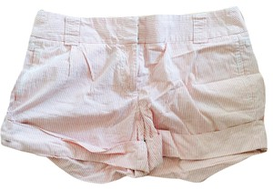 J.Crew Cuffed Shorts Pink searsucker