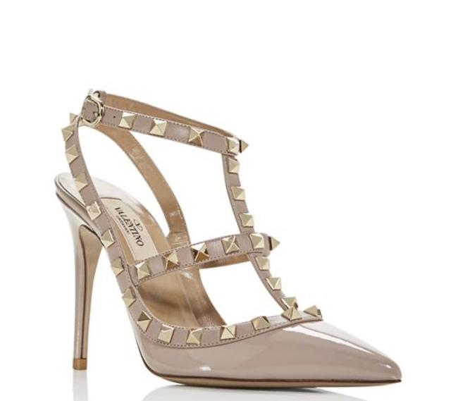 Item - Nude Rockstud T-strap High Pumps Size US 8.5 Regular (M, B)