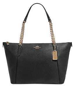 Coach Satchel Leather Satchel Ava 58318 Tote in black