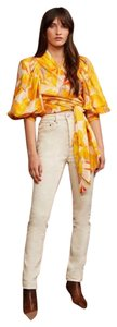 acler Fashionista Crop Summer Top golden abstract
