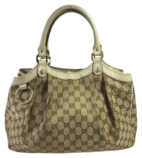 Preload https://item5.tradesy.com/images/gucci-beige-canvasivory-leather-tote-2732299-0-2.jpg?width=440&height=440