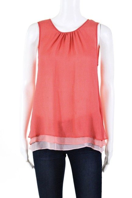 Preload https://img-static.tradesy.com/item/27323004/madison-marcus-coral-silk-chiffon-blouse-size-6-s-0-3-650-650.jpg