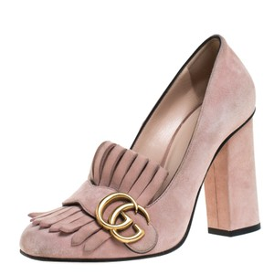 Gucci Suede Rubber Pink Pumps