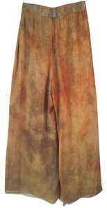 Michael Casey Vintage Couture Palazzo Wide Leg Pants Gold