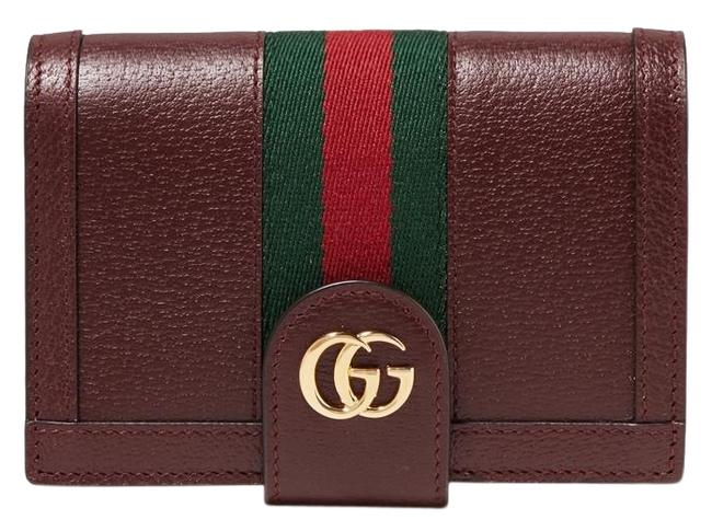 Gucci Burgundy New Leather Passport Cards Holder Case Wallet Gucci Burgundy New Leather Passport Cards Holder Case Wallet Image 1