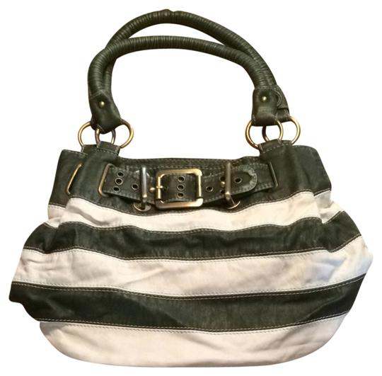 Preload https://item4.tradesy.com/images/green-and-white-stripped-leather-shoulder-bag-2732368-0-0.jpg?width=440&height=440