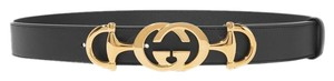 Gucci Brand New - Gucci Leather Belt with Interlocking G Horsebit - Size 110