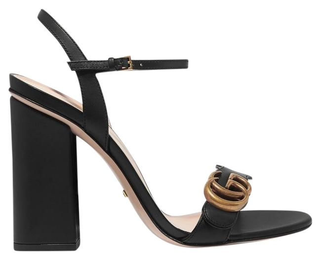 Item - Black Marmont Logo-embellished Leather Sandals Size EU 39 (Approx. US 9) Regular (M, B)