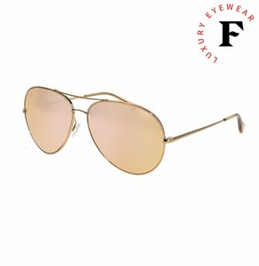 Oliver Peoples SAYER OV1201S Rose Gold Pink Mirrored Aviator Sunglasses 1201 Unisex