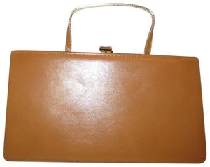 Ande' Vintage Faux Leather Man Oneam001 tan Clutch