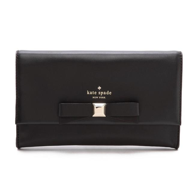 Item - Holly Remi Black & Gold Cowhide Leather Clutch