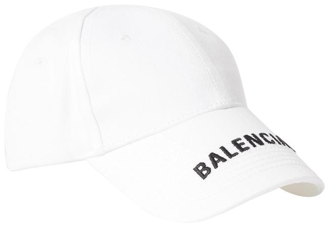 Item - White Classic Baseball Cap with Embroidered Logo Hat