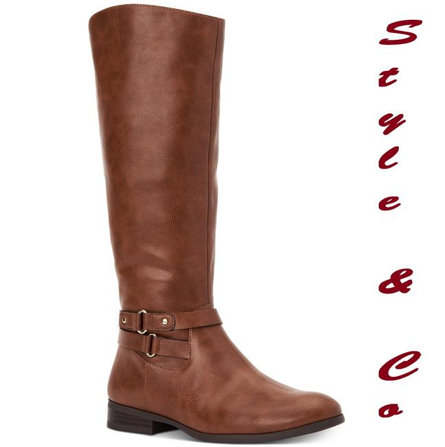 Style & Co Bourbon Women's Kindell Riding Boots/Booties Size US 5.5 Regular (M, B) Style & Co Bourbon Women's Kindell Riding Boots/Booties Size US 5.5 Regular (M, B) Image 1