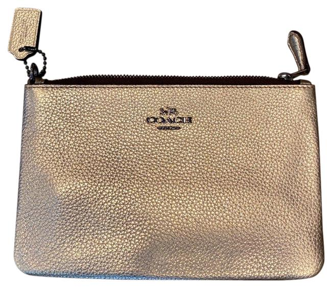 Coach Gold Metallic Wristlet Wallet Coach Gold Metallic Wristlet Wallet Image 1
