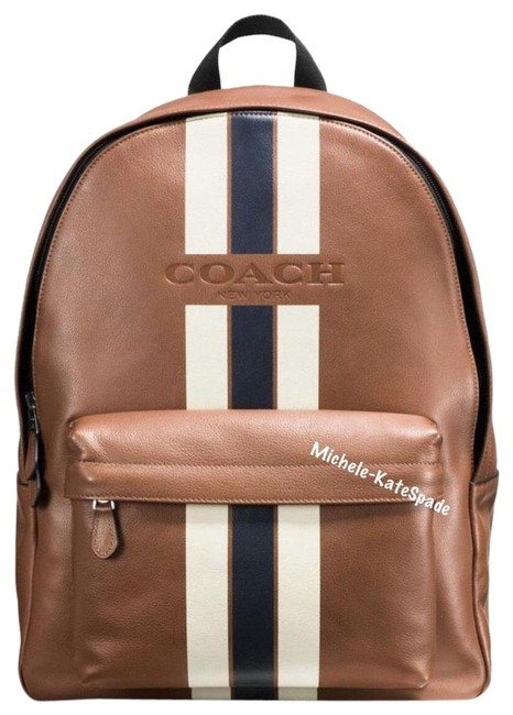 Item - Men's Charles In Varsity F72237 Multi ( Dark Saddle/ Midnight) Calf Leather Backpack