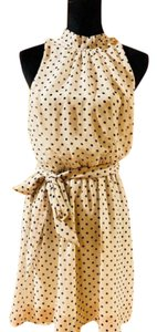 Sweet Pea by Stacy Frati short dress Off White Black Polka Dots New Without Tags on Tradesy