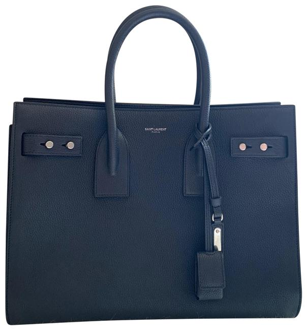 Saint Laurent Sac de Jour Small Deep Marine Calfskin Leather Satchel Saint Laurent Sac de Jour Small Deep Marine Calfskin Leather Satchel Image 1