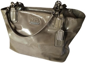 Coach Tote Patent Leather Satchel in Grey