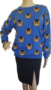 Moschino Bear Logo Monogram Longsleeve Barbie Sweater
