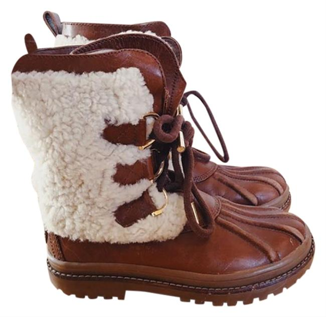 Item - Cream and Brown Shearling Duck Boots/Booties Size US 6.5 Regular (M, B)