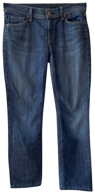 Item - Denim Dark Rinse Straight Leg Jeans Size 28 (4, S)
