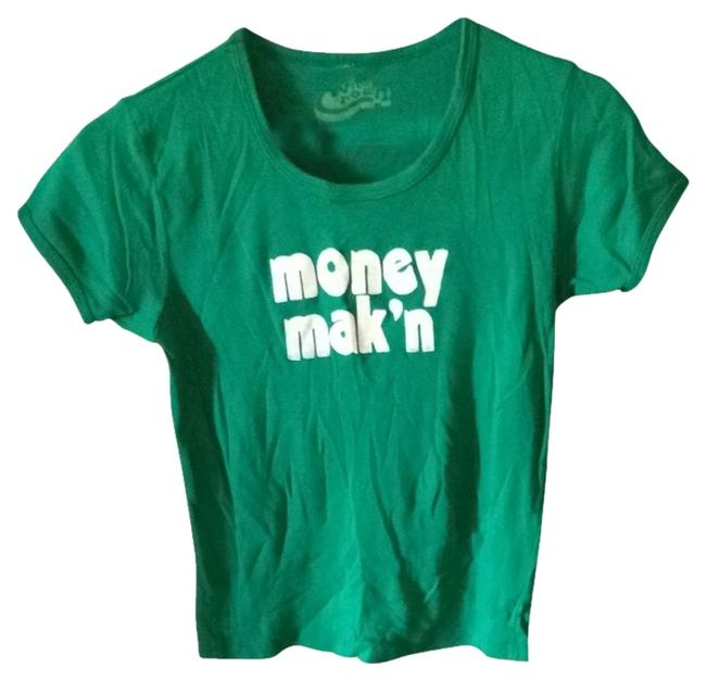 five crown T Shirt Green