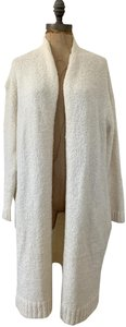 Larry Levine Open Front Knitted Sweater Oversized Cardigan