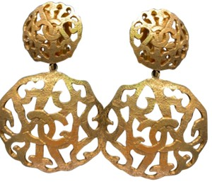 Chanel Authentic Vintage CHANEL filigree Dangling earrings