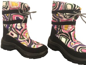 Emilio Pucci Winter Multi color Paisley Print Boots