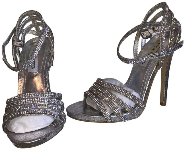 Item - Silver Cagged Formal Shoes Size US 6 Regular (M, B)