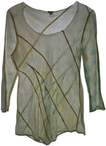 Dosa Vintage Tie Dye Tie Dye Tunic Tunic Top Pale Yellow and Blue