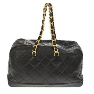 Item - Shopping XL Quilted Jumbo Vintage 90's Runway Black Calfskin Leather Tote