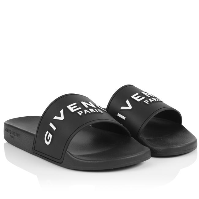 Item - Black New Pool Slide Rubber Flip Flops Sandals Size EU 40 (Approx. US 10) Regular (M, B)