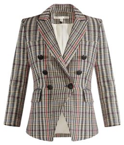 Veronica Beard Gucci Houndstooth Fitted Blazer