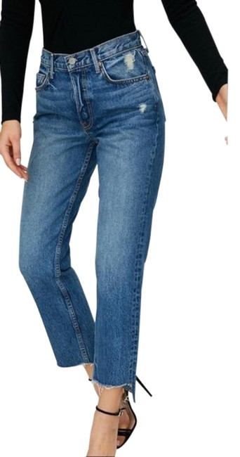 Item - Blue Medium Wash Helena High Rise Crop - Close To You Straight Leg Jeans Size 29 (6, M)