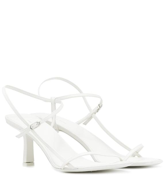 Item - Bright White Bare Kid Leather Heels Sandals Size EU 39 (Approx. US 9) Regular (M, B)