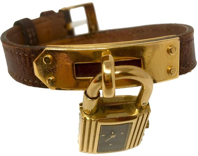Item - Gold & Burgundy Kelly Case Band/Face Watch