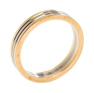 Cartier 18K Three Tone Gold Wedding Band Ring Size 56