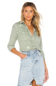 Mother Button Down Shirt Army Green