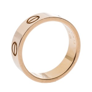 Cartier Love 18K Rose Gold Band Ring Size 52