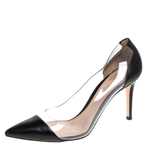 Gianvito Rossi Leather Pointed Toe Black Pumps