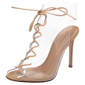 Gianvito Rossi Leather Lace Beige Boots