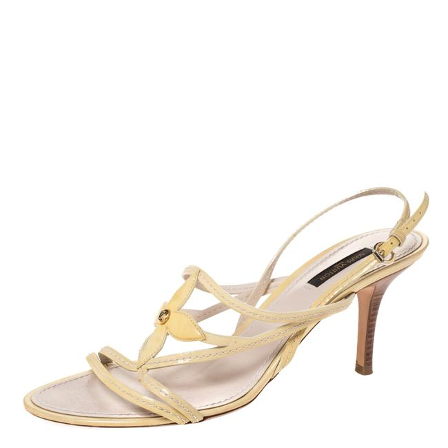 Item - Yellow Pale Patent Leather Ankle Strap Sandals Size US 9 Regular (M, B)