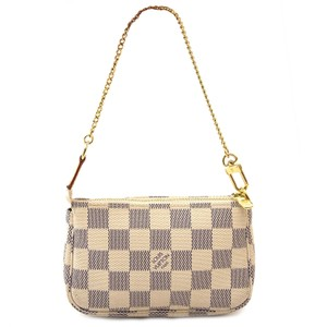 Louis Vuitton Mini Pochette Wristlet in Damier Azur