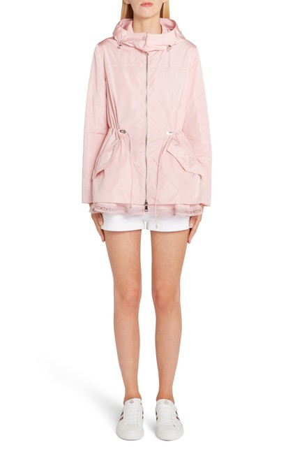 Item - Blush Loty Cinch Logo-trim Waist Rain Jacket Size 4 (S)