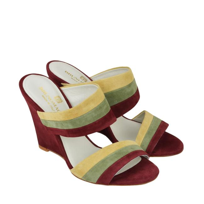 Item - Spice Combo Kira Wedge Suede Sandals Size US 6 Regular (M, B)