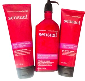 Bath and Body Works Aromatherapy SENSUAL 24Hr Moisturizing scented Body Cream & Lotion